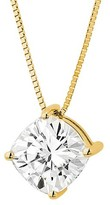 Charles & Colvard Forever Brilliant 1.70 CT. T.W. Forever Brilliant® Cushion Moissanite Solitaire Prong Set Pendant in 14K Yellow Gold