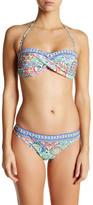 Nanette Lepore Greek Tile Bandeau Bikini Top