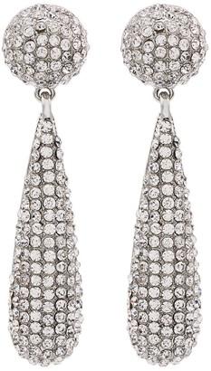Kenneth Jay Lane Bat silver-tone crystal drop earrings