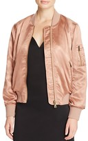 Cotton Candy Satin Bomber Jacket