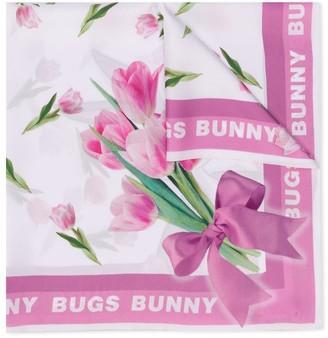 MonnaLisa Bugs Bunny print square scarf