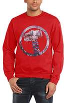 Marvel Men's Avengers Assemble Thor Logo Symbol Long Sleeve Sweatshirt