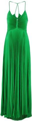 A.L.C. Aries green plisse maxi dress