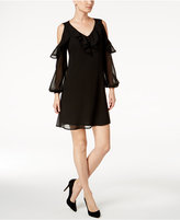 Taylor Cold-Shoulder Ruffled Dress