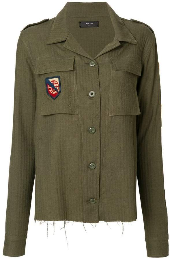 Amiri patch-appliqué military shirt