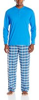 Jockey Men's Flannel Sleep Pant and Jersey Henley Pajama Set