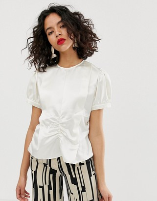 ASOS satin ruched top