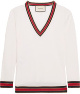 Gucci Striped Wool Sweater - Ivory