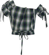 Marissa Webb Bree Plaid Crop Top