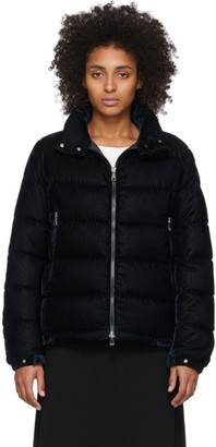 Moncler Navy Down Corduroy Copenhague Jacket