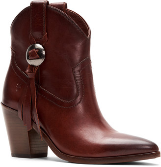 Frye Faye Concho Short Leather Boot