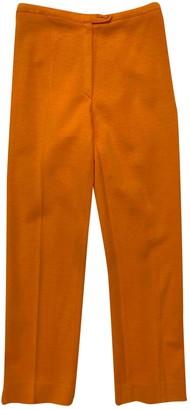 Rodier Orange Wool Trousers for Women Vintage