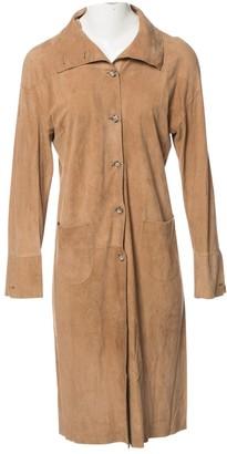 Prada Beige Suede Coat for Women