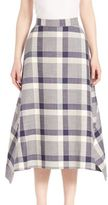 ADAM by Adam Lippes Windowpane Check Skirt