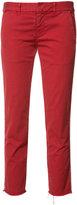 Nili Lotan stripe detail cropped trousers - women - Cotton/Spandex/Elastane - 10