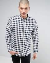Brave Soul Grandad Check Flannel Shirt