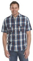 Woolrich Men's Midway Yarn Dye Short Sleeve Modern Fit Shirt