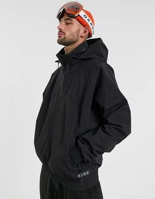 Asos 4505 4505 ski overhead hooded jacket-Black