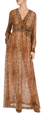 Gerard Darel Dayana Leopard Print Maxi Dress