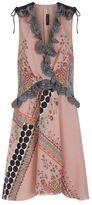 Etro Printed Silk Lace-Up Shoulder Dress