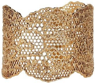 Aurelie Bidermann Vintage Lace Gold Cuff