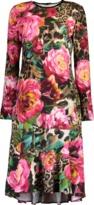 Naeem Khan Floral Print Dress