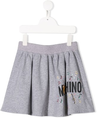 MOSCHINO BAMBINO Bear Logo Mini Skirt
