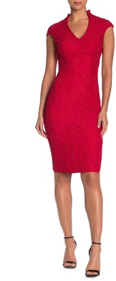 Alexia Admor Cap Sleeve Lace Sheath Dress (Regular & Plus Size)