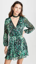 Alice + Olivia Rita Blouson Sleeve Removable Mock Neck Dress