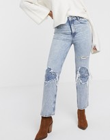Free People My Own Lane ripped knee bootcut jeans