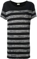 Saint Laurent stripe T-shirt - women - Linen/Flax - XS