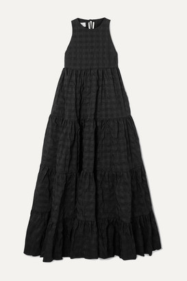 Marques Almeida Marques' Almeida - Tiered Seersucker Maxi Dress - Black