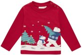 Jo-Jo JoJo Maman Bebe Polar Bear Top (Toddler/Kid) - Red-2-3 Years