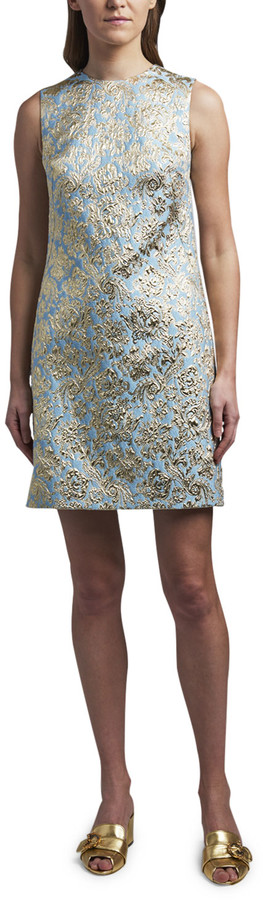 Dolce & Gabbana Jacquard Shift Cocktail Dress