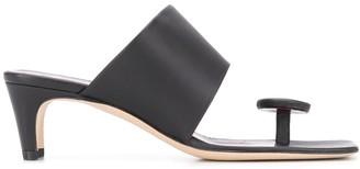 STAUD Toe Strap Heeled Sandals
