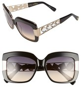 Oscar de la Renta Women's 54Mm Oversize Sunglasses - Black