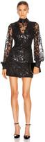 Alexis Franciska Dress in Beaded Black | FWRD