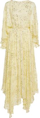 LoveShackFancy Solana Flowing Silk-Blend Maxi Dress