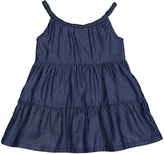 Sweet & Soft Dark Blue Denim A-Line Dress - Infant & Toddler