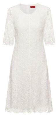 HUGO Midi dress in lace with three-quarter-length sleeves