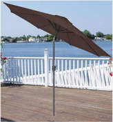 Asstd National Brand 9' Outdoor Patio Market Umbrella with Hand Crank and Tilt - Brown and Black