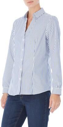 Jones New York Stripe Easy Care Button-Up Shirt