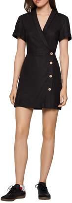 BCBGeneration Shawl Collar Wrap Dress