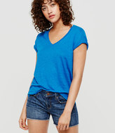 Lou & Grey V-Neck Linen Tee