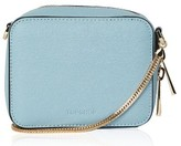 Topshop By Ona Boxy Faux Leather Crossbody Bag - Blue