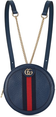 Gucci Ophidia GG mini navy leather backpack