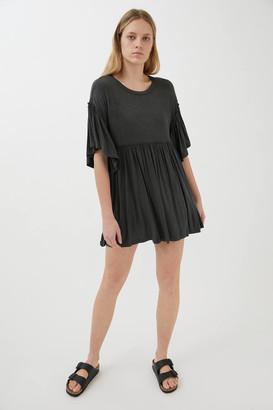 Urban Outfitters Baza Ruffle Mini Frock Dress