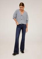 MANGO Knit short cardigan grey - S - Women