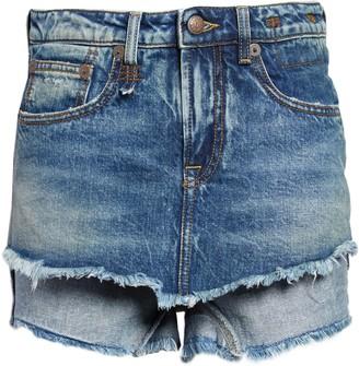 R 13 Double Layer Cutoff Denim Shorts