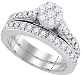 Jawa Fashion 1 Total Carat Weight ROUND DIAMOND LADIES FLOWER BRIDAL RING